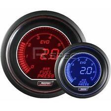 Prosport 52mm EVO Car Fuel Pressure Gauge BAR Red Blue LCD Digital Display