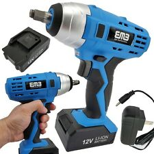 12v Max Brushed Powerful Cordless Impact Wrench Drive Tool Li Ion Battery 38 In