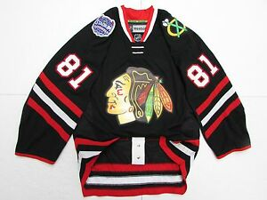 new arrivals 7a22b 3e086 Details about HOSSA CHICAGO BLACKHAWKS AUTHENTIC 2014 STADIUM SERIES REEBOK  EDGE 2.0 JERSEY