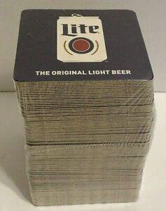 Miller Lite Beer Coasters Bar Man Cave Party Sealed Pack Of 100 Beer Pong