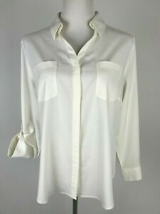 NEW-CHICO-039-S-Petite-Roll-up-L-S-Stretch-Modal-Blouse-2-Petite-12P-Ivory