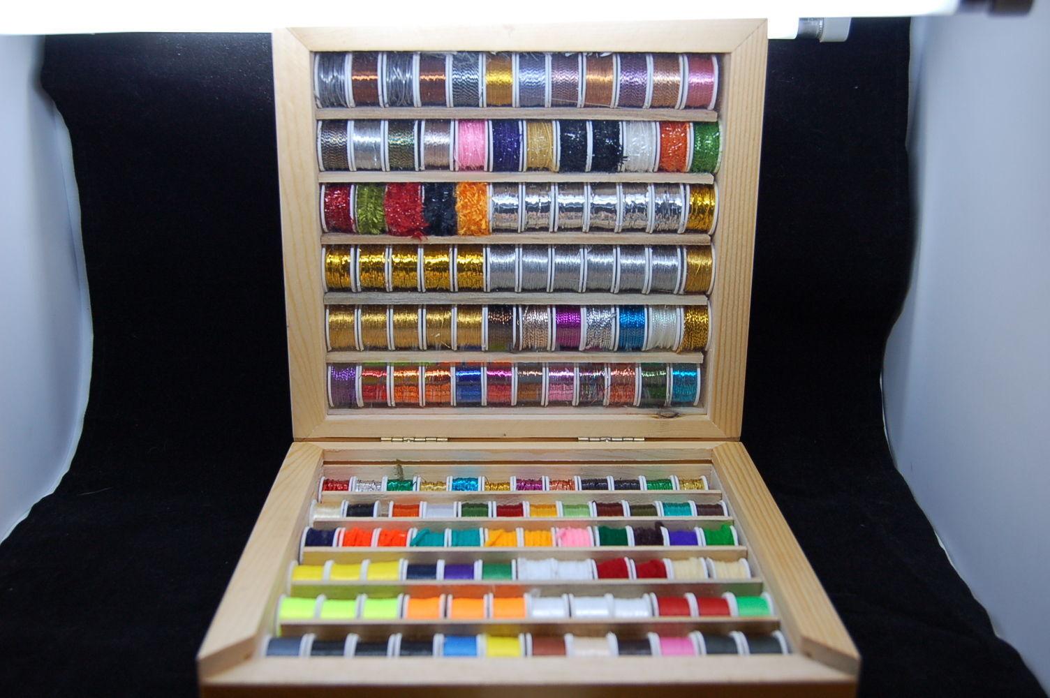 144 Grandes Bobine de Fil, Soie, Tinsel, Câbler et Laine, Multicolor