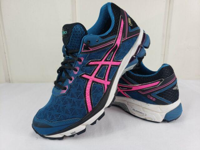 Asics Womens Sz 8 GT-1000 4 GTX Running Shoes GoreTex T5B7N Blue Pink EUC  Sz 8