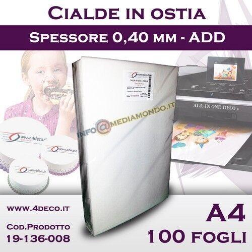 1000 fogli Cialde in Ostia per Stampante alimentare torte dolci pasticceria cake
