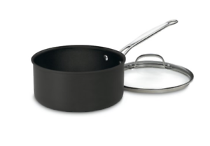 Cuisinart 6194-20 Chef/'s Classic Nonstick Hard-Anodized 4-Quart Saucepan w// Lid