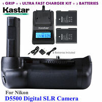 Kastar Battery Grip, En-el14 Battery, Charger For Nikon D5500 Digital Slr Camera