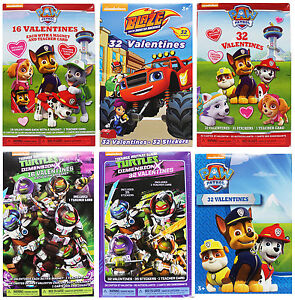 Nickelodeon Various Characters Valentines Day Cards For