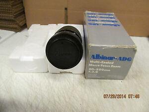 Canon FD Mount ALBINAR-ADG Lens 80-200mm F/3.9 MC MACRO ZOOM 55mm