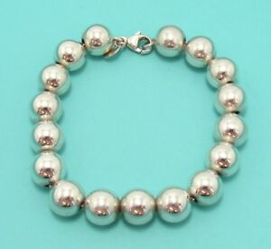 790b0bd6d Image is loading Tiffany-amp-Co-Sterling-Silver-Bead-Bracelet-10mm