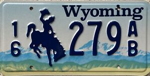 Wyoming-Cowboy-Horse-American-Pressed-License-Licence-USA-Number-Plate-279