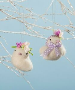 Bethany-Lowe-Set-of-2-Mazy-And-Zoe-Chick-Ornaments-RL8237-New