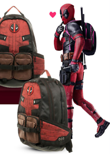 Marvel-Deadpool-Cosplay-Backpack-School-Bags-Travel-Bag-Bookbag-For-Unisex