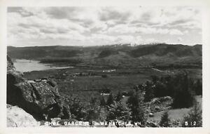 Famous-Ohme-Gardens-Wenatchee-WA-Washington-Real-Photo-Postcard-D19