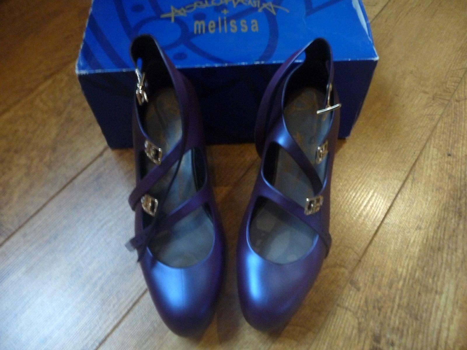 Damens's Vivienne Westwood 3 Melissa elevated 3 Westwood strap purple two tone schuhe UK 5 / 5a1eaa