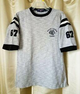 21d8ff0a411 Vintage 90's Polo Sport Ralph Lauren Tiger 67 Gray Football t-shirt ...