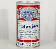 BUDWEISER TAB-TOP ?SLOT RING PULL? BEER CAN ANHEUSER-BUSCH NEWARK, NEW JERSEY NJ
