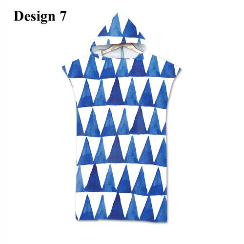 Geometric Zigzags Triangles Dots Stripes Hooded Towel Swim Spa Bath Beach Poncho