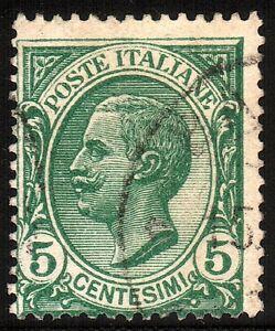 REGNO-D-039-ITALIA-1906-Vittorio-Emanuele-III-5-cent-verde-Cat-SASSONE-n-81