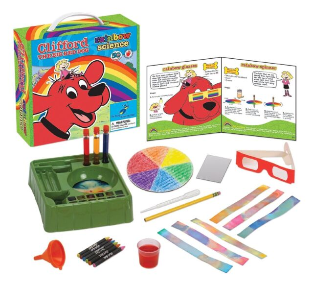 **NEW Young Scientist Club Clifford The Big Red Dog Rainbow Science Kit Ages 3+