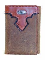 Nocona Tri-fold Mens Western Wallet Copper Grizzly