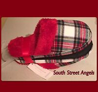 Charter Club Stewart Plaid Women's Printed Flannel Slippers Large ( 8-9)