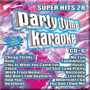 Various-Artists-Party-Tyme-Karaoke-Super-Hits-Vol-28-New-CD