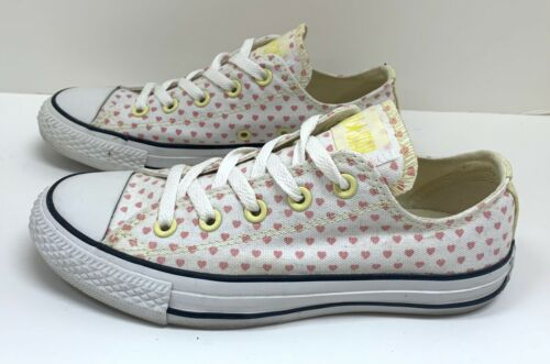 Converse All Star Pink & Yellow Hearts Low Top Can