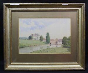Leon-Fleury-1804-1858-Herrenhaus-Normandie-Louis-Harrison-Jean-Victor-Bertin