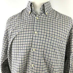 Peter-Millar-Shirt-Plaid-Check-Blue-Taupe-Size-Large