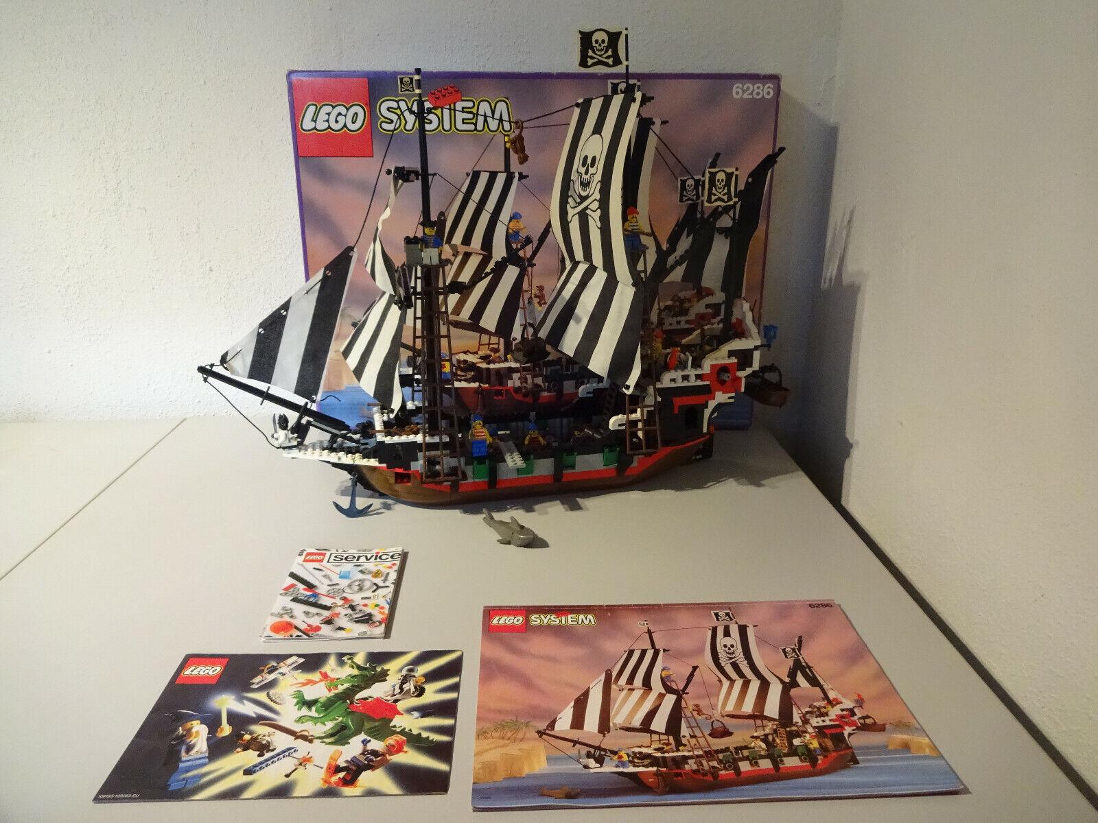 (TB) LEGO SYSTEM 6286 SKULL'S EYE SCHOONER MIT OVP & BA 100% KOMPLETT MIT ILAY
