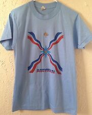 80's Assyrian Flag T-Shirt - Sz: S - Light Blue - Screen Stars - Vintage