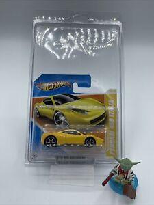 Jaune Ferrari 458 Italia 35//52 2010 HW PREMIERE HOT WHEELS 1:64 Scale Comme neuf CARD