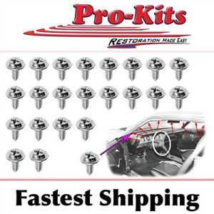 Fits 70 E Body Barracuda Cuda Challenger 22pcs Roof Rail Mount Screw Kit Ebay