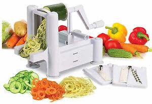 100% Genuine! AVANTI Spiretti Spiral Vegetable and Fruit Slicer with 3 Blades!