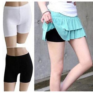Women-Elastic-Safety-Pure-Color-Under-Shorts-Leggings-Render-Pants-Fashion-SEAU