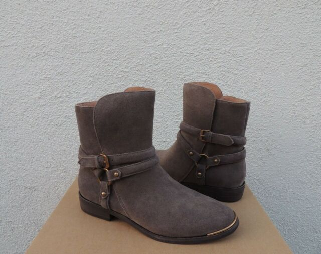 558d4582cb7e Buy UGG Kelby Mouse Suede Harness Buckle Ankle BOOTS Women US 8.5 ...