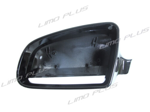 2x Black Mirror Cover for AUDI A4 S4 8E B6 B7 02-09 A3 S3 8P 06-08 mc53