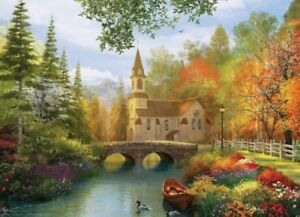 Eurographics Puzzles - Autumn Church - 1000 piece Jigsaw Puzzle EG60000695