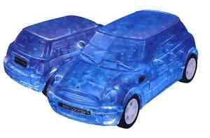 3D-PUZZLE-64-PIECES-034-BMW-MINI-COOPER-Blue-034-CRYSTAL-PUZZLES