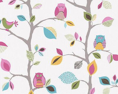 Kids Party Owls birds trees Bedroom Nursery Childrens Wallpaper Low p&p  4000776856326 | eBay