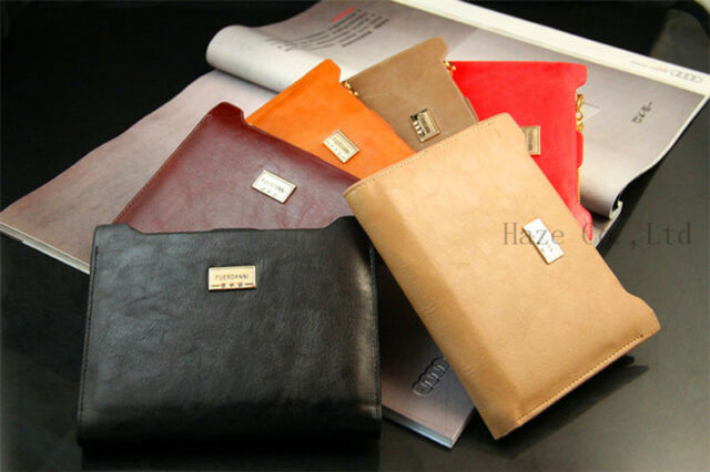 New Lady's Genuine Leather Zipper Long Slim Bifold Card Wallet Woman Purse