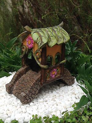 Miniature Dollhouse FAIRY GARDEN Furniture ~ Fairytale Covered Bridge ~ NEW