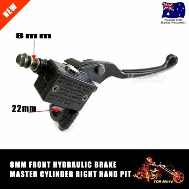 8MM Front Right Hydraulic Brake Master Lever Cylinder Pit/Dirt/ATV/Quad Bike