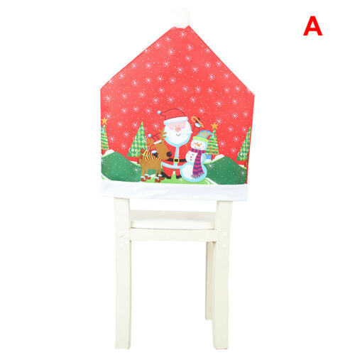 Christmas Chair Covers Dining Seat Decoration Santa Claus Xmas Hat Home Decor n