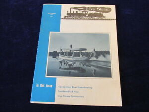 1970 Live Steam Magazine Connecticut River Steam Boating Southern Ps-4 plan Q494