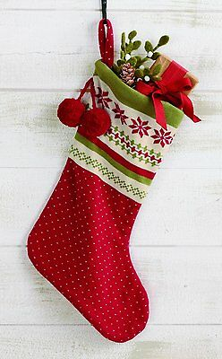 """17"""" Christmas Knit Stocking, Nordic Winter Knit by Tag"""