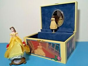 DISNEY-BEAUTY-THE-BEAST-JEWELRY-BOX-MUSICAL-6-034-4-034-2002-DISNEY-BELLE