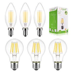 6er 6w e27 led lampe filament fadenlampe gl hfaden gl hbirne kugel ersetzt 45w ebay. Black Bedroom Furniture Sets. Home Design Ideas