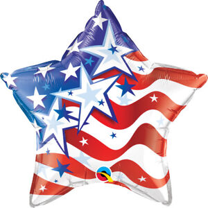 4th-OF-JULY-BALLOON-20-034-STAR-SHAPED-STARS-amp-STRIPES-INDEPENDENCE-DAY-BALLOON