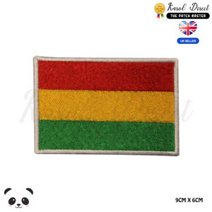 Bolivia-National-Flag-Embroidered-Iron-On-Sew-On-Patch-Badge-For-Clothes-etc